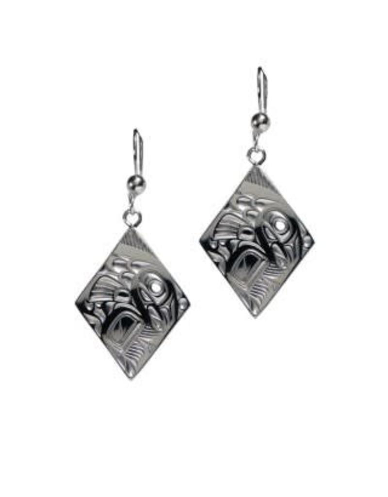 Panabo Sales Salmon Diamond Earrings