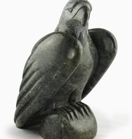 Moose, Howard Bald Eagle Soapstone Carving