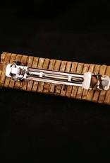 Brown, Mona Cedar Hair Clip - 3 shell buttons