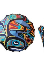 Native Northwest Whale Umbrella