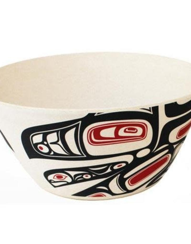 "Morgan Asoyuf Running Raven 10"" Bowl"