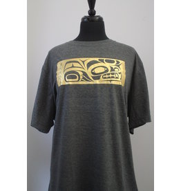 Mike Forbes Wolf Gold Foil T-Shirt - Grey