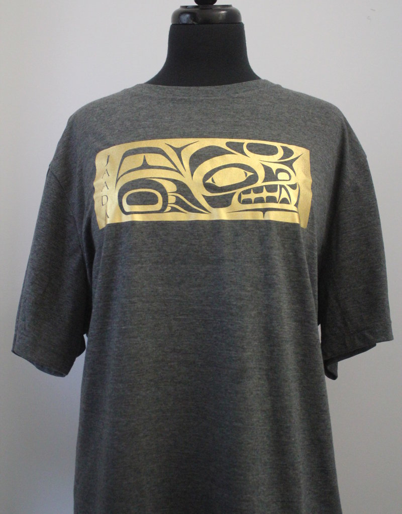 Mike Forbes Wolf Gold Foil T Shirt Grey