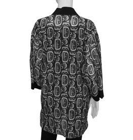 Chloe Angus Design Tuxedo Kimono Black & White
