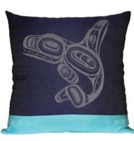 Native Northwest Whale Pillow Cover