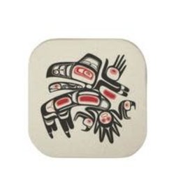 Native Northwest Running Raven Coaster Set