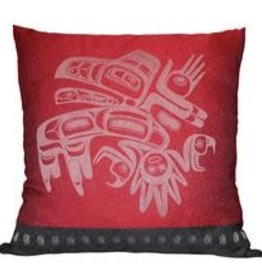 Native Northwest Running Raven Pillow cover