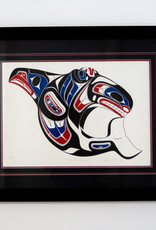 Shorty, Richard Killer Whale Design - Framed