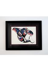 Shorty, Richard Killer Whale Design - Framed