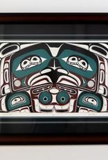 Heber Reese Eagle Box Design Framed
