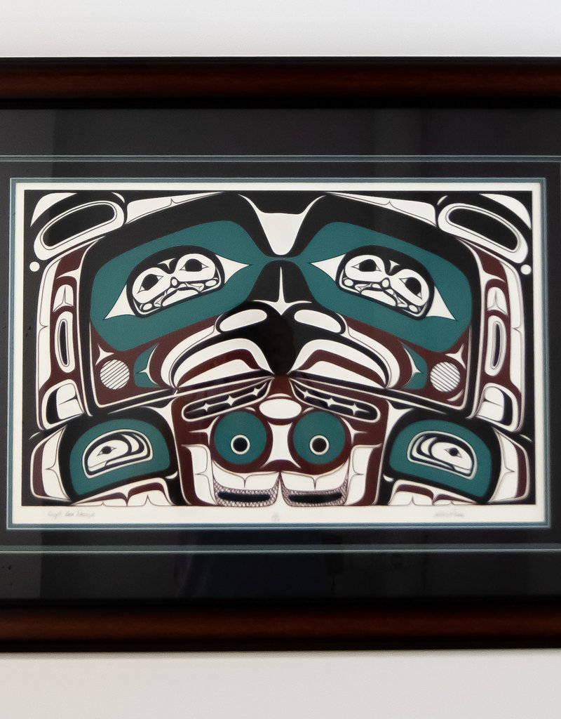 Heber Reese Eagle Box Design Framed