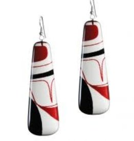 Panabo Sales Earrings Red/black Drop