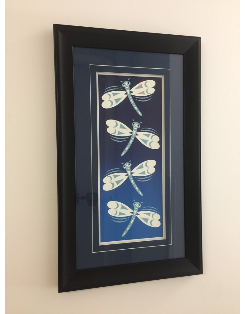 Johnny Jr., Maynard Dragonflies Framed Print