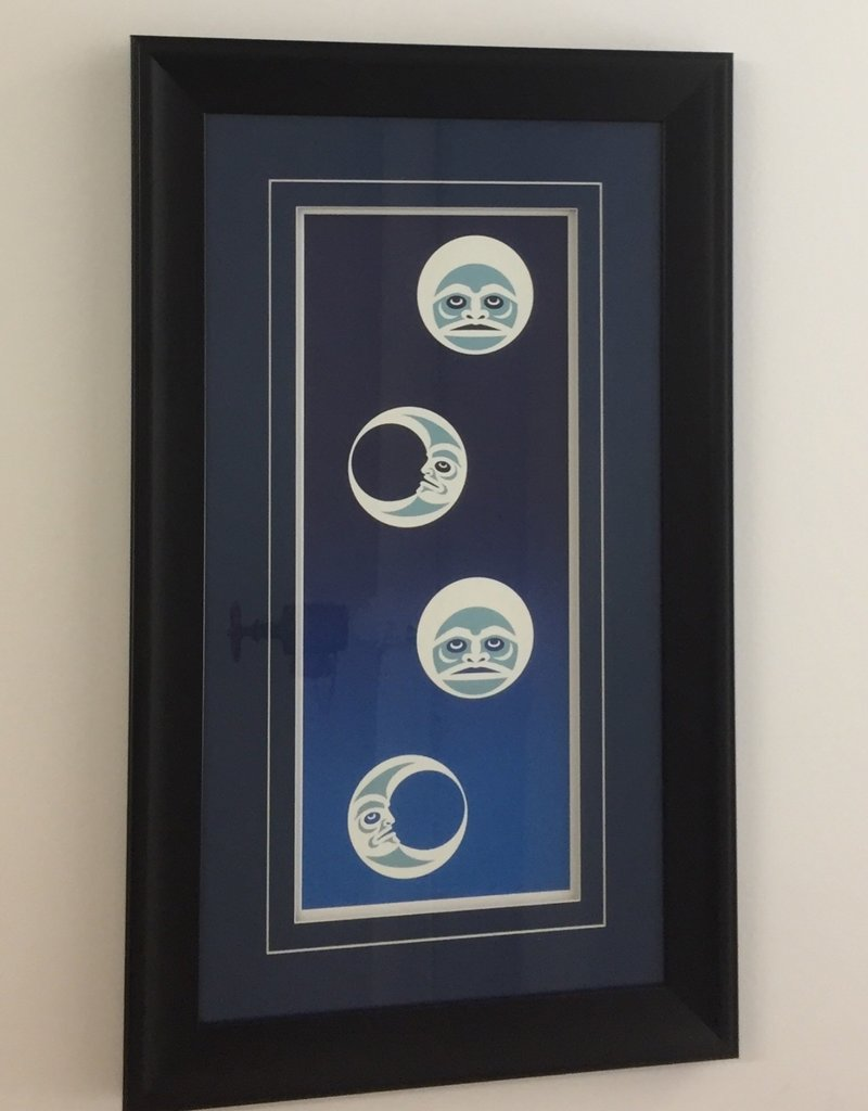 Johnny Jr., Maynard Winter Moon Framed Art