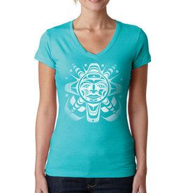 Native Northwest Screen Print T-Shirt-Ladies