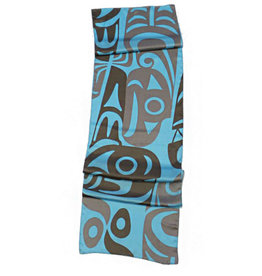 Johnny Jr., Maynard Silk Scarf - Whale and Thunderbird