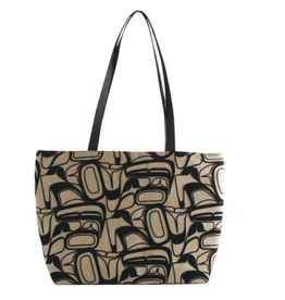 Robinson, Kelly Beige Eagle Flocked Tote