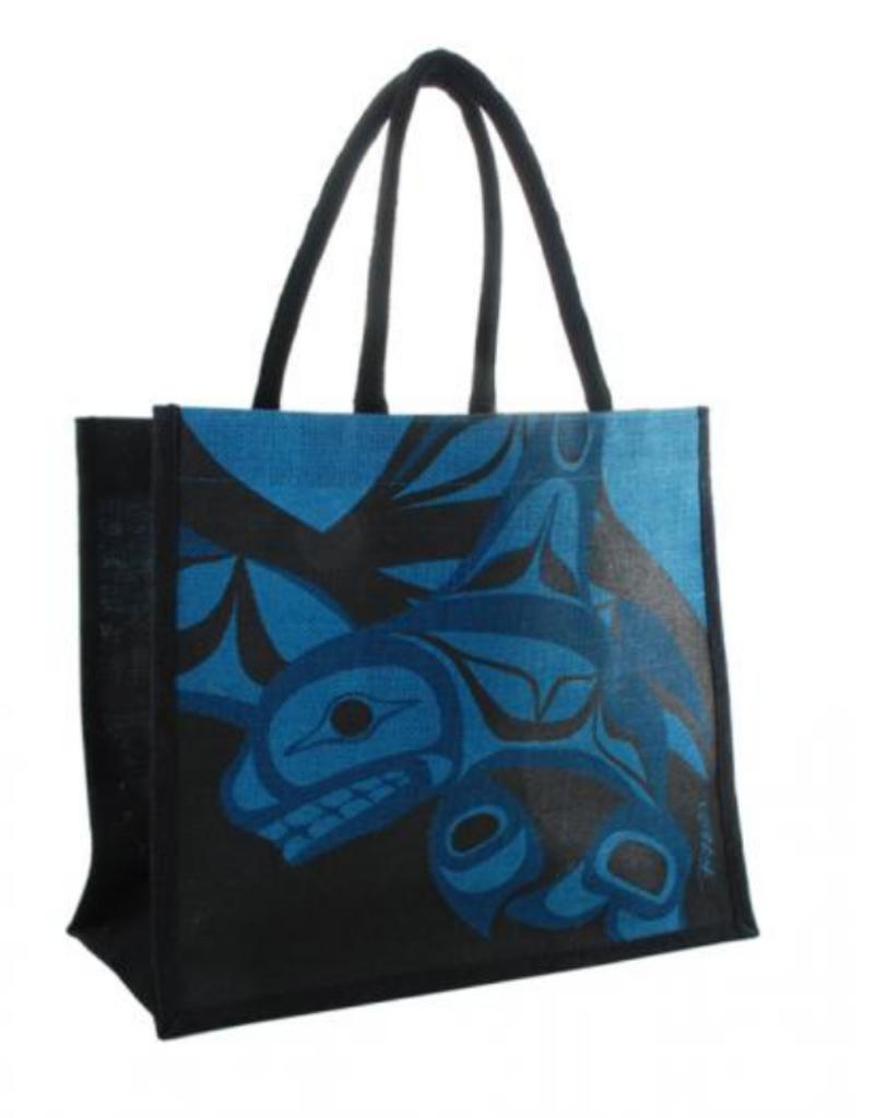 Helin, Bill Killer Whale Jute Bag