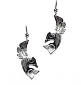 Helin, Bill Lovebirds Pewter Earring
