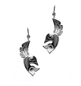 Helin, Bill Lovebirds Pewter Earring