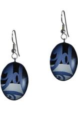 Hunt, Corrine Oval Blue Earring