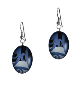 Hunt, Corrine Oval Blue Earring