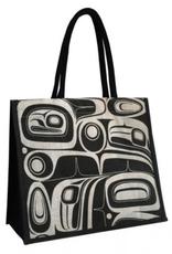 Robinson, Kelly Raven Black/White Jute Bag