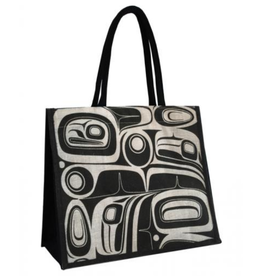 Robinson, Kelly Raven Black/White Jute Bag