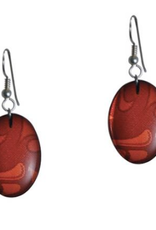 Hunt, Corrine Red Oval Earring