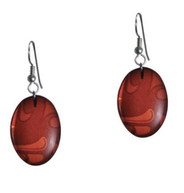 Hunt, Corrine Red Oval Earring