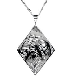 Helin, Bill Salmon Diamond Pewter Pendant