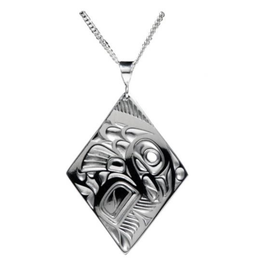 Helin, Bill Salmon Diamond Pewter Pendant