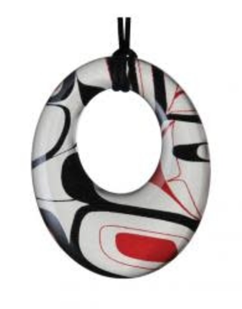 Robinson, Kelly Silk Pendant Red/Black Round