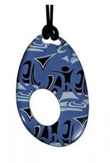 Hunt, Corrine Silk Pendant Blue Oval