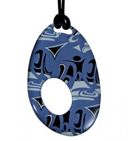 Hunt, Corrine Silk Pendant Blue Oval