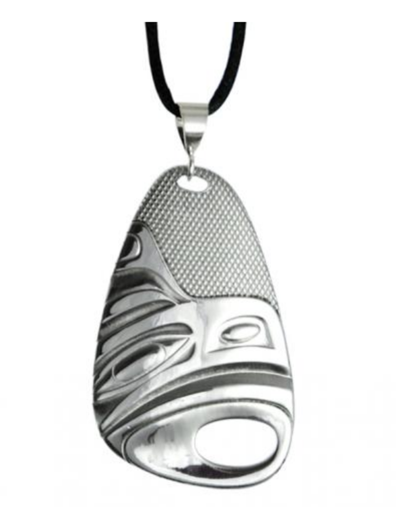 Hunt, Corrine Silver Pewter Pendant Eagle With Satin Cord