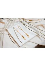 Emma Love Cabana Beaded Earring Gold Beads