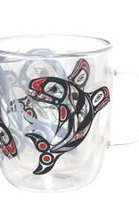 Native Northwest Double Walled Glass Mug