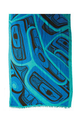 Panabo Sales Frog Poly Shawl Turquoise