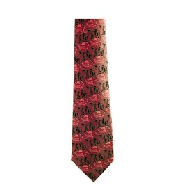 Panabo Sales 3 Eagles Silk Tie Red