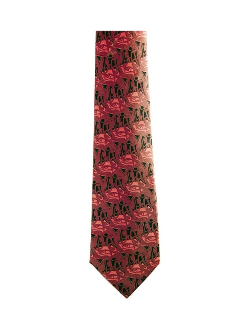 Panabo Sales 3 Eagles Silk Tie Red