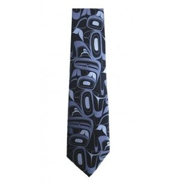 Panabo Sales Eagle Silk Tie Blue