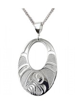 Panabo Sales Raven Wing Oval Pendant