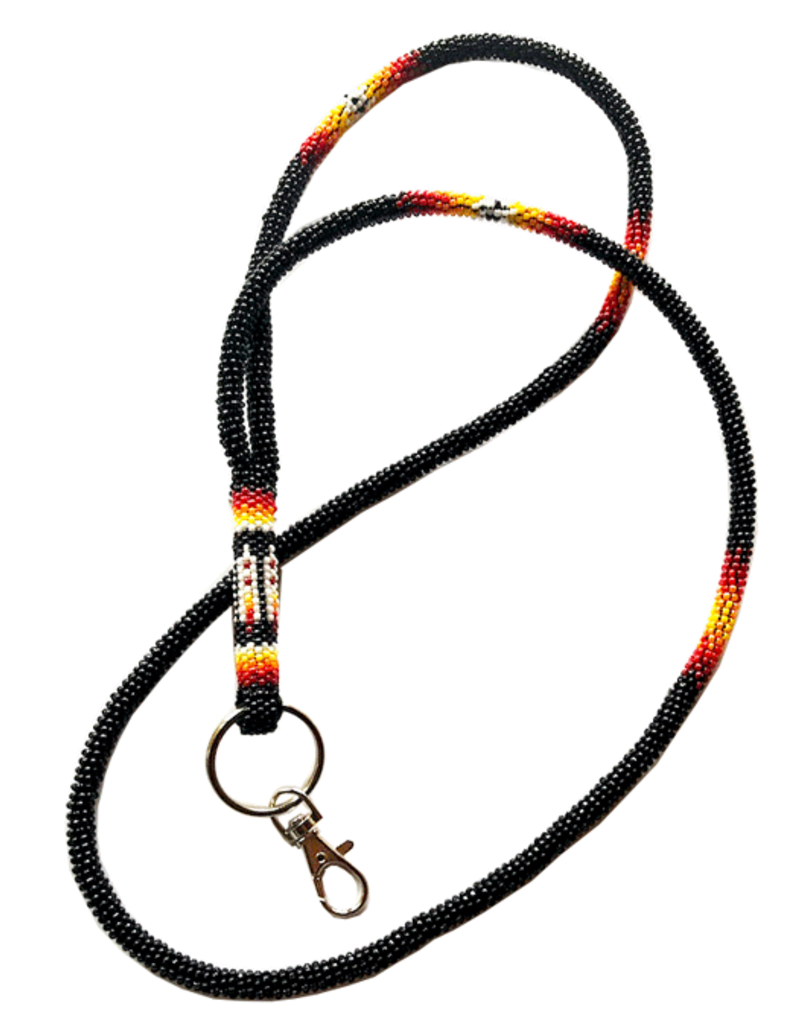 Fourdwholesale Feather Wrapped Lanyard