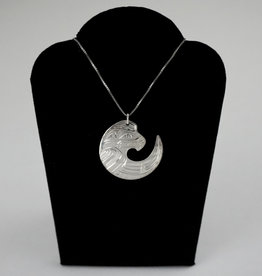 Nancy Dawson Cut Out Eagle Silver Necklace