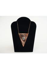 Agnes Wisden Wolf Copper Arrow Pendant/Silver Eye