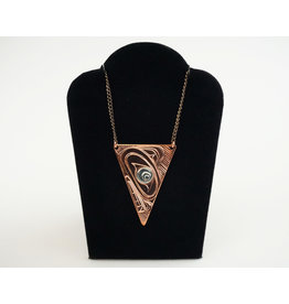 Agnes Wisden Wolf Copper Arrow Pendant/Silver Eye