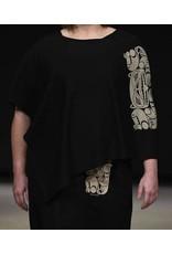 Aylelum Black Fleece Poncho