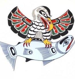 Kwa-gulth Eagle & Salmon