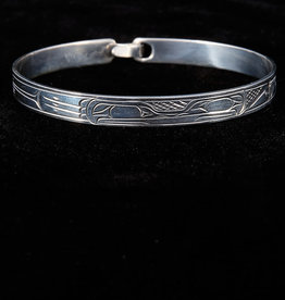 Harper Victoria Frog Silver Bangle 1/4""